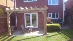 Bespoke Oak Pergola with New Lawn