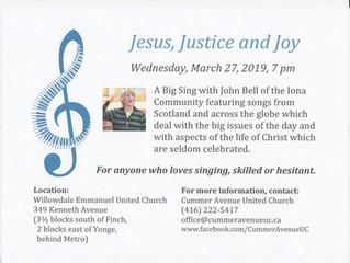 Jesus, Justice and Joy