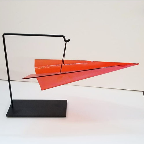 Custom Color Glass Paper Plane