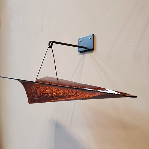 Glass paper plane - textured carmel