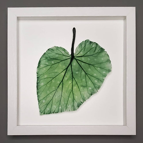 Handmade Glass Spotted Begonia