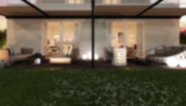 render 3d villa como