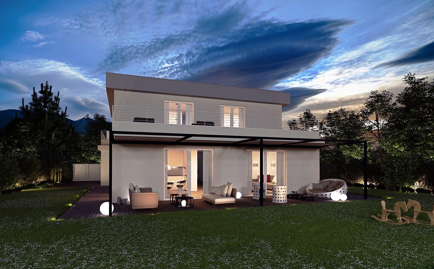 rendering villa como