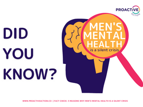 3 REASONS WHY MEN'S MENTAL HEALTH IS A SILENT CRISIS
