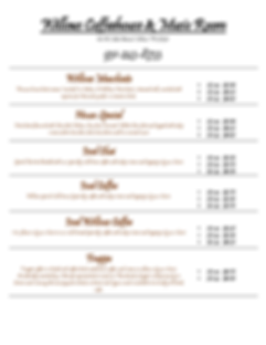 menu 9-18-19 for Willow's Boutique Page