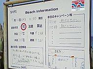 海水浴場の遊泳情報。海水浴を楽しむ前に、安全に楽しめるようビーチインフォメーションをご確認ください。