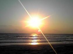 白浜海岸より 日の出