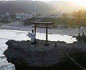 白浜神社例大祭の時に毎年行われる神事です。