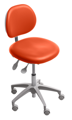 A‑dec_421_doctor's_stool_with_paprika_
