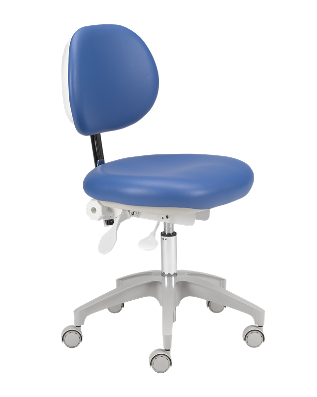 A‑dec_421_doctors_stool_with_sky_blue_