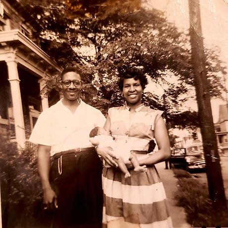 Grandad, Granny holding baby Cassandra.j