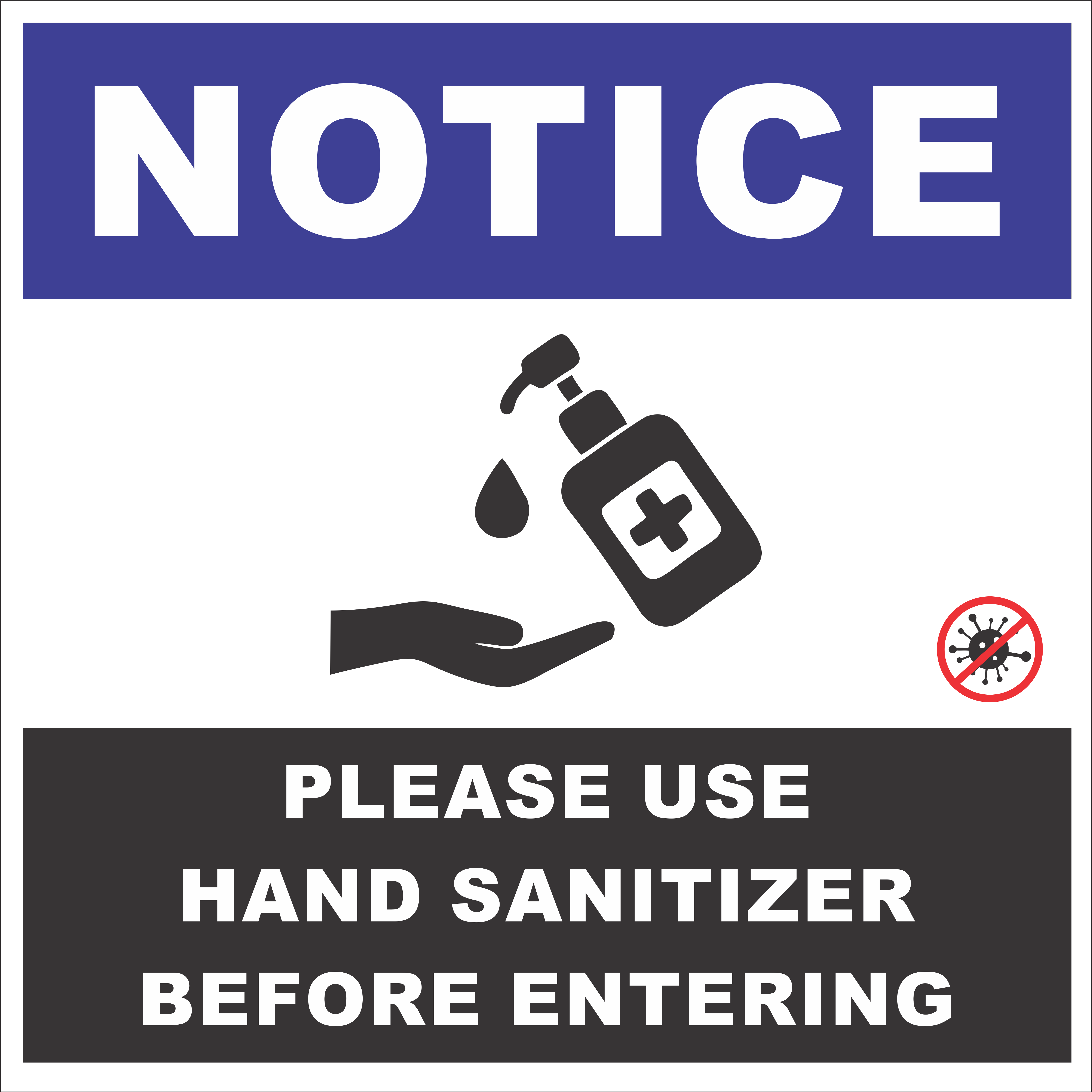 Please Sanitize Sign