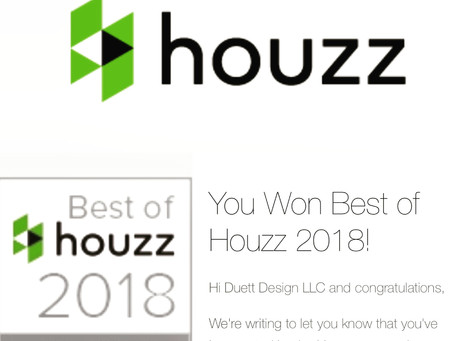 We won Best Of Houzz 2018