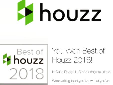 We won Best Of Houzz 2018