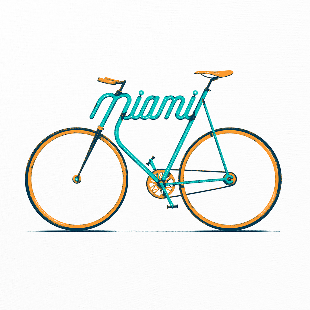 Miami Typo - Bike