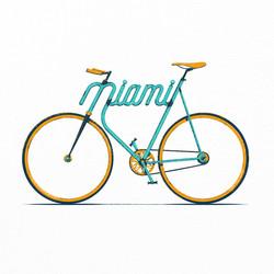 Miami Typo - Bike