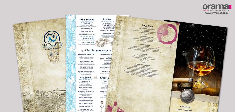Hatzikelis Restaurant Menu English