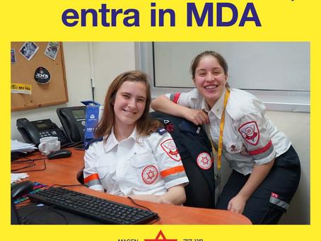 Diventa volontario di MDA Italia e vola in Israele