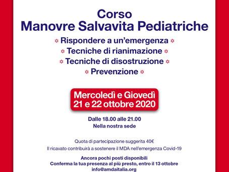 Tre ore che possono fare la differenza: parte il corso di manovre salvavita pediatriche