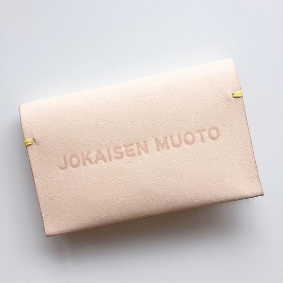 JOKAISEN MUOTO jokaisenmuoto cardcase カードケース ヨカイセンムオト ヌメ beige ベージュ 革