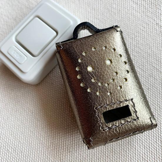 Security buzzer leather case