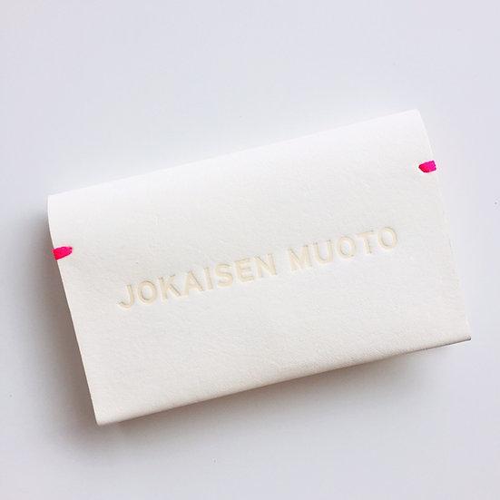 JOKAISEN MUOTO jokaisenmuoto cardcase カードケース ヨカイセンムオト 白 white 革 キップ