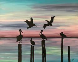 Pelicans ECCE Art