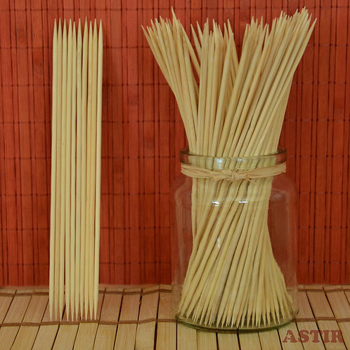 200 x 3 mm Bamboo Skewers, Two Points