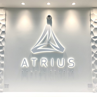 Atrius Dental Studio Reception Signage.p