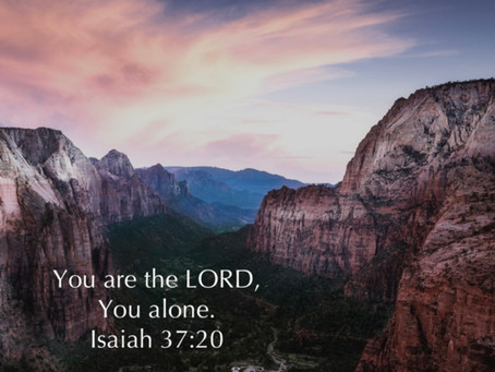 The LORD alone!