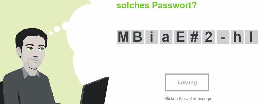 "Training ""Sicheres Passwort"""