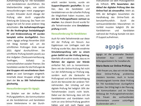 Online-Prüfungen - Agogis macht's vor