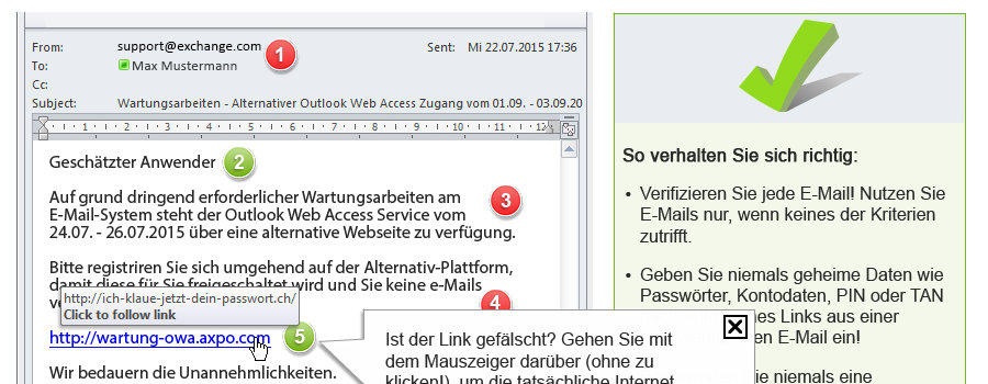 "Training ""Internet Security / Phishing"""