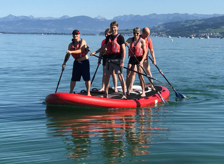 Team Steag auf dem Bodensee