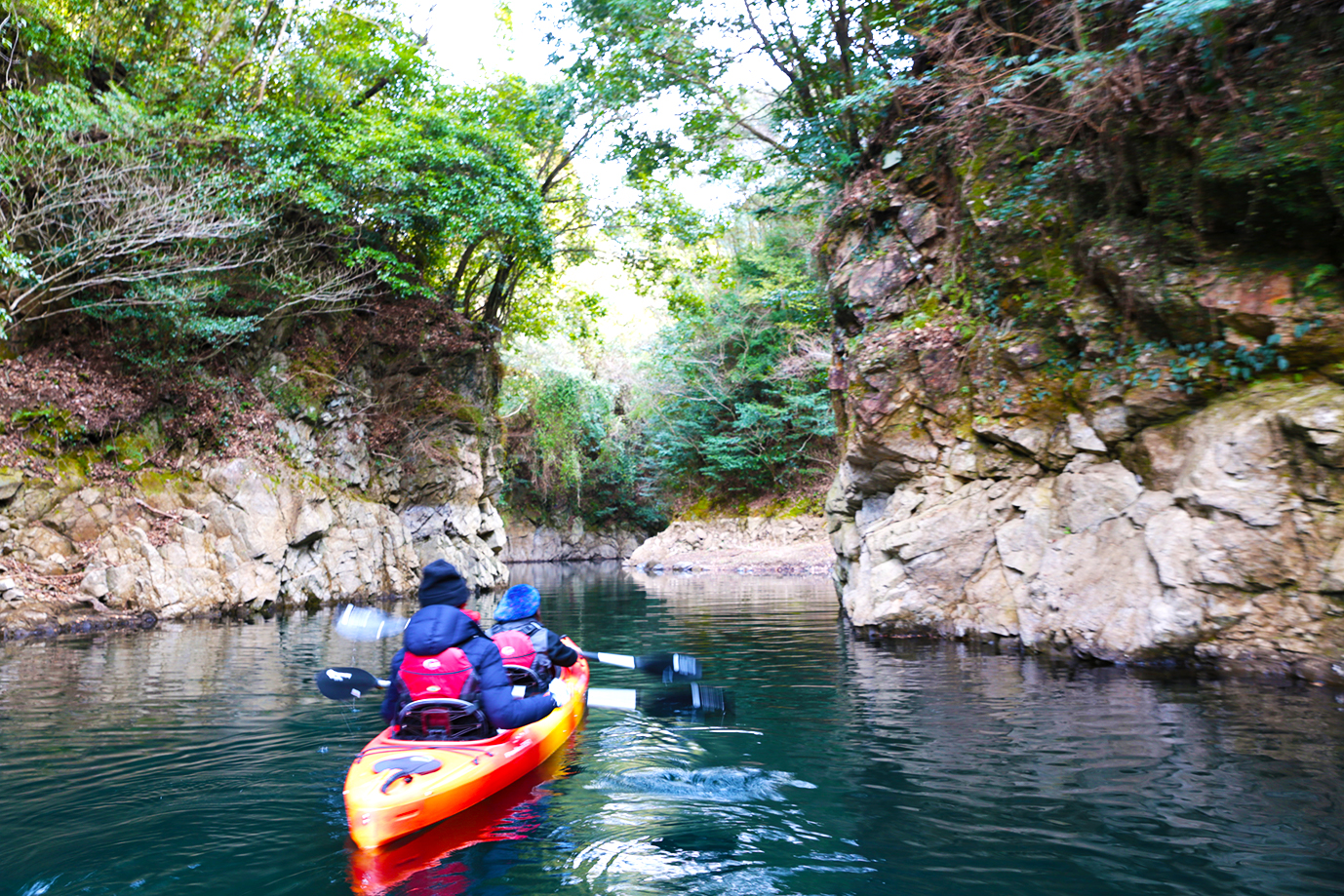 Kayaking in Kikuchi