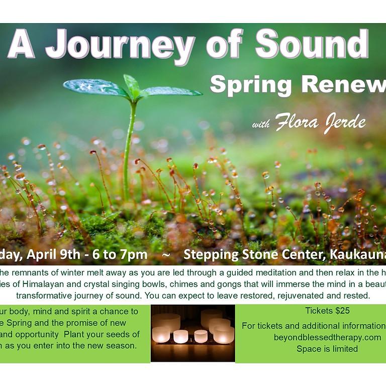 Journey of Sound Spring Renewal
