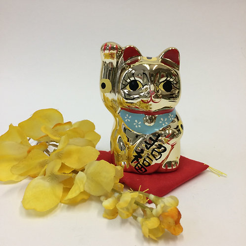 Chinese geluks kat goud porselein spaarpot