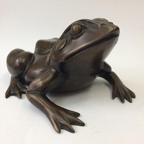 Bronzen kikker