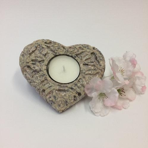 lamp waxinehouder sfeerlicht waxinelicht steen hart decoratie liefde valentijn geschenk romantisch sfeervol
