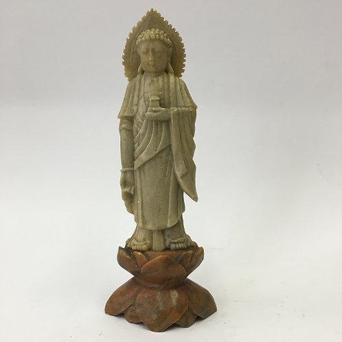 Handcarved Boeddha gemaakt van steatiet