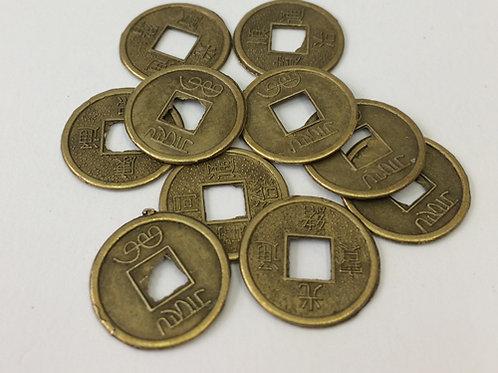 Metalengeluks muntjes