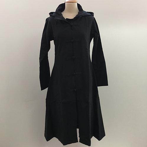 Dames jas met Chinese knopen zwart