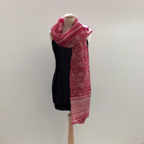 40% zijde en 60% katoen sjaal rood wit