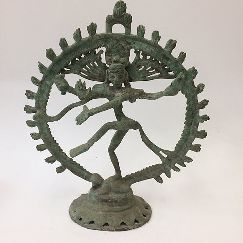 Shiva Natraja koper groen