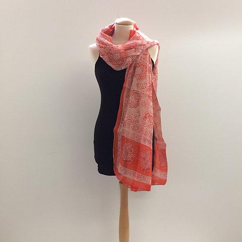 40% zijde en 60% katoen sjaal oranje geel