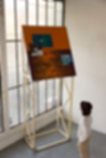emile orange Enola Gay acrylique sur toile Émile ORANGE