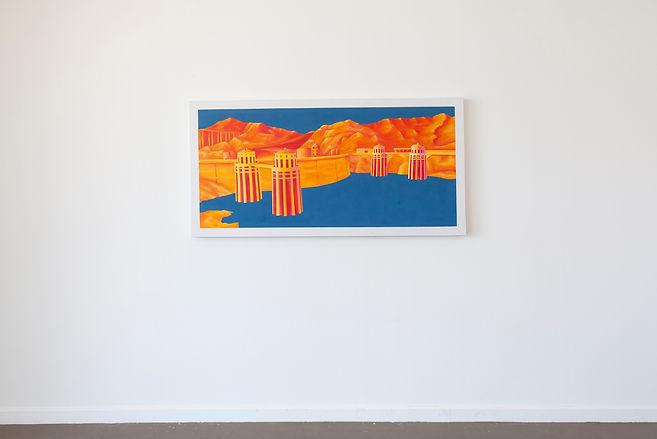 emile orange Hoover Acrylique, peinture aérosol, 78x 156 cm, 2014 Émile ORANGE