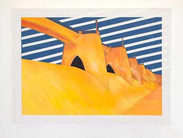 emile orange Dam/ Rade Acrylique, peinture aérosol, 65x 88 cm, 2013/2014 Émile ORANGE