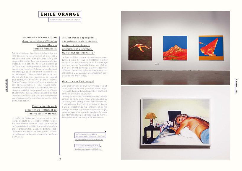 Entretien avec Louise Bernatowiez, commissaire de l'exposition À SUIVRE, Esam Caen/Cherbourg Émile ORANGE