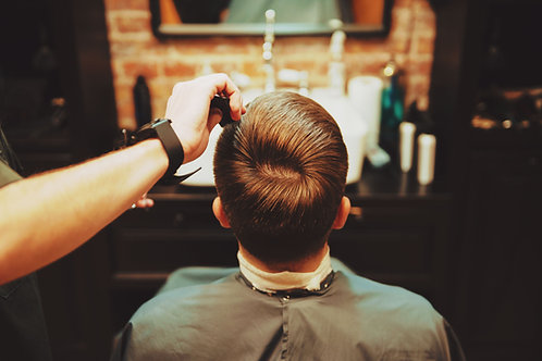 Provide a haircut for a child